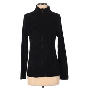 📍Lisa embellished full-zip mock neck jacket